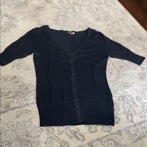 BP Black Short Sleeve Cardigan